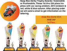 Soap Box Derby 5 Trophies Award / Cubmobile / Pushmobile