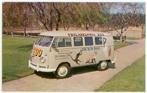 c1960 Philadelphia Pennsylvania Zoo Volkswagen Bus animal school bus
