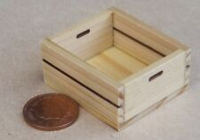 1:12 Scale Single Large Size Wooden Tray Box Crate Dolls House Shop Accessory G