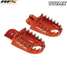 RFX PRO SERIES CNC WIDE FOOTPEGS KTM SX 65 2002-2015 ENDURO MX MOTOCROSS