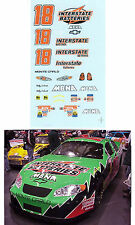 #18 Bobby Labonte Interstate 2003 1/64 scale decal Afx Tyco Lifelike Autoworld