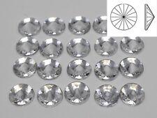 Craft DIY Clear Acrylic Flatback Round Rivoli Rhinestone Gems 8mm 10mm 12mm