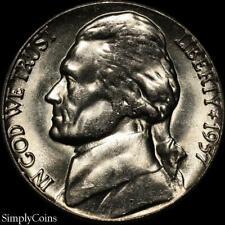 1957-D Jefferson Nickel 5c ~ Gem Bu Uncirculated ~ Us Coin Mq