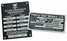Firefly Serenity Builder's Plaques Sticker Set Cosplay Movie Prop Reproduction