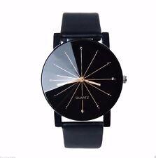 Nice Luxury Silver Gold Diamond Black Leather Men Dress Fashion Quartz Watch