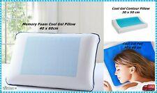 Cool Gel Contour Memory Foam Pillow , Cool Gel Pad Firm Head Neck Back Support