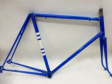 "23.75"" REYNOLDS 531 D/B NERVEX RETRO ROAD FRAME 1960'S RESTORED EVANS MODEL"