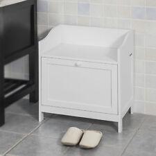 SoBuy®  Mini Sitzbank fürs Bad,Badhocker, Aufbewahrungskiste,weiß, FSR51-W