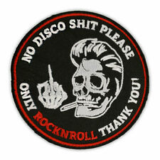 Bügel Aufnäher No Disco Shit Please only Rockn Roll Patch US Car Hot Rockabilly