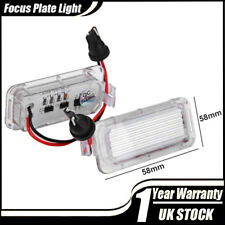 2x LED Licence Number Plate Light Ford Fiesta Focus C-Max Kuga S-Max Galaxy MK4
