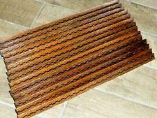 Rare Antique Set of 14 Inlaid Wood Stair Carpet Rods.