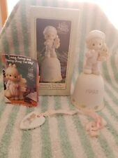 Precious Moments Wishing You Sweetest Christmas Bell Cookie for Santa 1993 Box