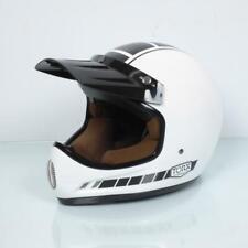 Casque moto cross vintage Torx Brad Legend Racer White Shiny Taille XS blanc