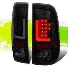 PAIR BLACK SMOKED TAIL LIGHT 3D LED L-STREAK BAR OE FITMENT FOR 08-16 SUPER DUTY
