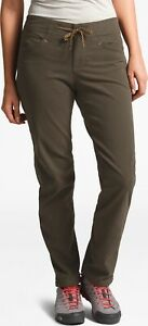 The North Face Women's North Dome Cotton Blend Pants In New Taupe Green Sz 10