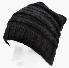 WINTER WOOLLEN BEANIE HAT MADE IN NEPAL CHEAPEST ON EBAY- GRAB A BRAGAIN-BLACK