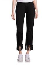 3x1 NYC 'Clamdigger' Black (Tango) Cropped Fringe Jeans Size 26 (2/4)