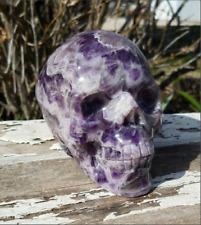 Large Amethyst Skull Crystal Totem
