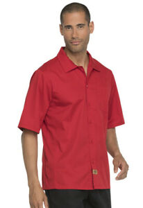 NWT DICKIES COOL BREEZE SHORT SLEEVE CHEF SHIRT UNISEX RED DC61