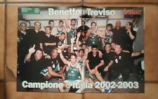 Poster BENETTON TREVISO - CAMPIONE D'ITALIA 2002/2003 - SUPERBASKET
