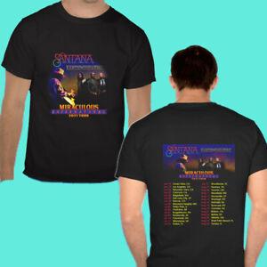 SANTANA&EARTH WIND&FIRE MIRACULOUS SUPERNATURAL TOUR 2021 Black T Shirt Gildan
