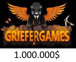 GrieferGames 1.000.000$ Money [Lieferung am gleichen Tag/24h] 100% sicher