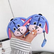3D Cute  Animals Eeyore strap Cover Earphone Bag For Apple Airpods Case Disney