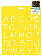 """PAPYRUS ALPHABET STENCIL STENCILS TEMPLATE CRAFT SCRAPBOOK ART BY DELTA 7"""" X 10"""""""