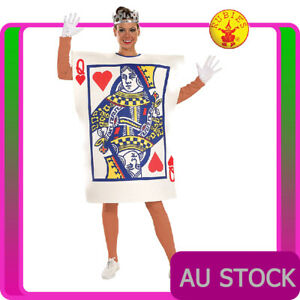 CL500 Playing Card Ladies Queen Of Hearts Poker Halloween Fancy Dress Costume