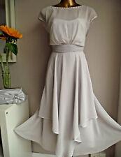 MONSOON ANYA IVORY SILVER PEARL BEAD GEM OCCASION WEDDING EVENING DRESS 14 £139