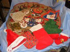 Christmas Hessian Tablecloth Doyleys Cushions Coasters Hats Stocking Decorations