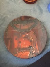 Norman Rockwell Looking For Santa Collector Plate