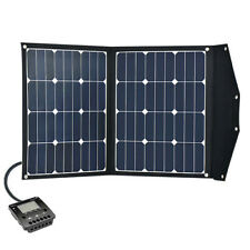 Folding Portable Solar Panel Kit 80W/12V, 10A regulator LCD disp. USB & cables
