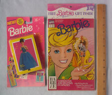 Barbie Marvel Comics Book #1, 1991 & Party Dazzle Barbie Fashion Play Cards Nrfb