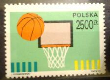 POLAND STAMPS MNH Fi3192 Sc3047 Mi3340 - 100 years od Basketball, 1991, clean