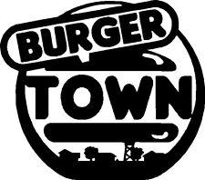 Burger Town Vinyl Sticker COD CALL OF DUTY MODERN WARFARE BLACK OPS AR15