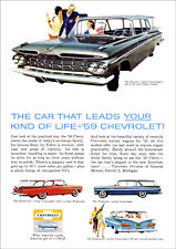 CHEVROLET 59 IMPALA NOMAD STATION WAGON RETRO A3 POSTER PRINT FROM ADVERT 1959