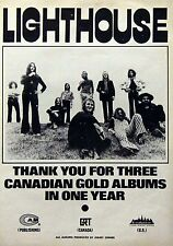 Lighthouse Canada Rock Vintage & Rare 1972 - 1973 Promotional Ads Collection
