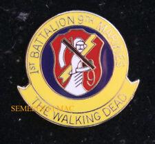 1/9 1ST BATTALION 9TH US MARINES THE WALKING DEAD HAT LAPEL VEST PIN GIFT USMC