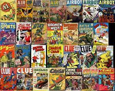 100 New GOLDEN AGE DIGITAL COMIC BOOKS V1 DVD Westen Fighter Famous Funnies LOT