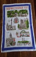 Vintage irish linen tea towel Newcastle upon Tyne Ulster