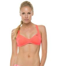 Nike Women's Beach Bondie Solids Racerback Bra Top Hot Punch XS $50 J5/11