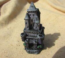 "Miniature Pewter Castle Camelot Figurine Gallo Rare 2"" Fantasy Mythic Vintage"