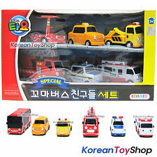 Little Bus TAYO Friends Special Set 6 pcs Toy Car Toto Cito Nuri Frank Pat Alice