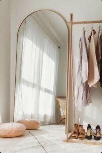Arched Leaner Floor Mirror Brass Bjorn