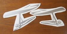 2 * mirrored New Hang Gliding Decals Stickers Emblem Hg Car Automobile Side Wing