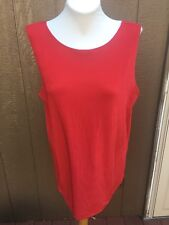 New Soldout Chico's Travelers Lipstick Red Reversible Tank Top 3 = XL 16 18 NWT