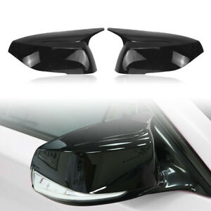 FOR 2014-2021 INFINITI Q50 Q60 Q70 QX30 GLOSS BLACK SIDE VIEW MIRROR COVER CAPS