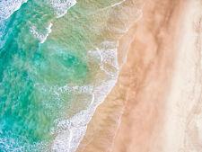 70x50cm Large Landscape Canvas Prints - Aerial view of a sandy beach