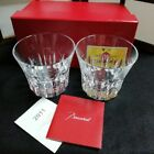 Baccarat Lowball Pair Glass Japan Limited Etna 2011 Tumbler Cup Whiskey Box Auth